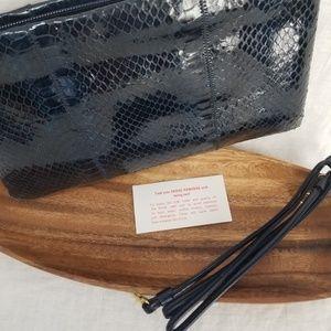 Bags - Genuine Snake Skin Bag NWOT